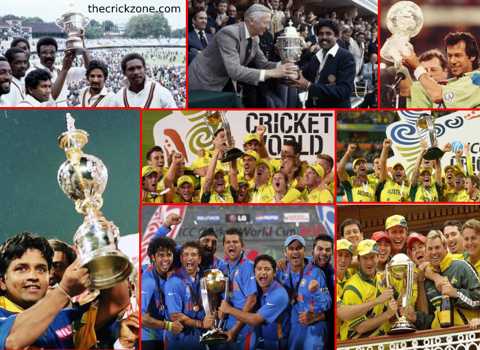ICC Cricket World Cup History: winners and runners-up list