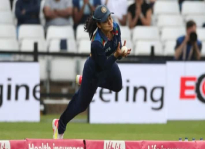 Viral Video of Harleen Deol's- Harleen caught an amazing catch on the boundary to become a 'superwoman'