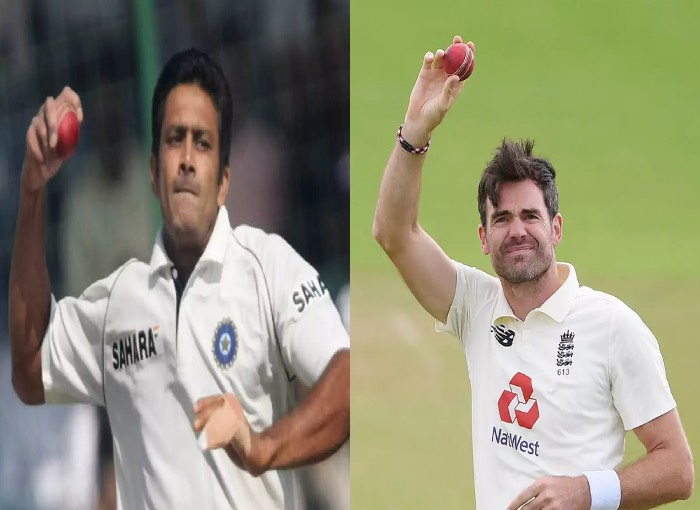 James Anderson reaches in top 3 highest Test wickets with 619 wickets, equal to Anil Kumble