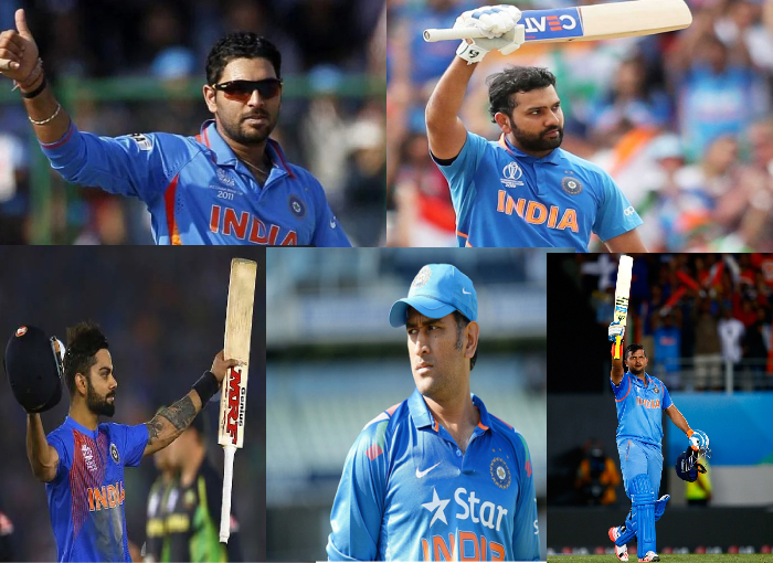 T20 World Cup - Top 5 Indian players who have hit most sixes