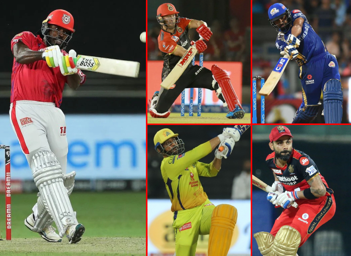 Top 5 Batsmen with the greatest number of sixes in IPL